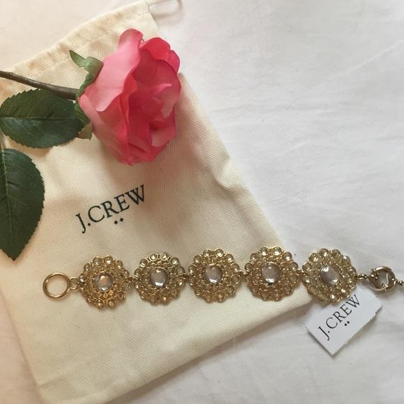 J. Crew Jewelry - J. Crew Crystal Statement Bracelet